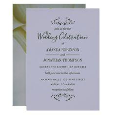 Calla Lily Floral Wedding Invitation - wedding invitations cards custom invitation card design marriage party