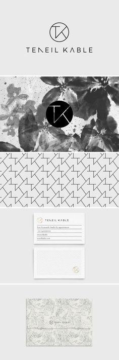 Print Design / Packaging / Logo Design / Graphic Design / Business Card Design / Bliss & Bone / Teneil Cable / Branding / Ideas / Inspiration / Brand / Design / Minimalist  / Minimal / Gestalt / Wedding Photographer / Portrait Photographer / Australian / Pattern Logo / Modern / Black and White