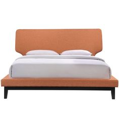 Bethany Bed in Black with Orange Upholstery