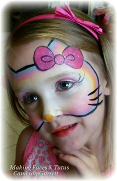 Sweet hello kitty face painting by Making Faces  Tutus www.MakingFaces.vpweb.com