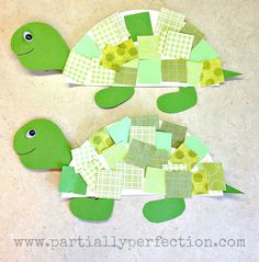 Make Cute Turtles Out Of Half A Paper Plate And Multicolored Green This Easy Project Is Fun For