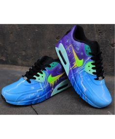 meet afc25 d80fb Nike Air Max 90 Blue Purple Galaxy Style Trainers UK Clearance Purple  Trainers, Air Max