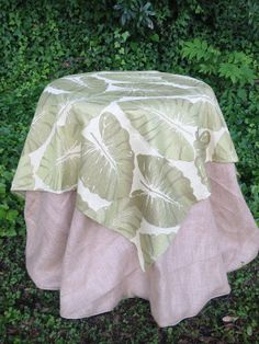 54 Square Leaf Print Tablecloth   Overlay by simplyfox on Etsy, $45.00