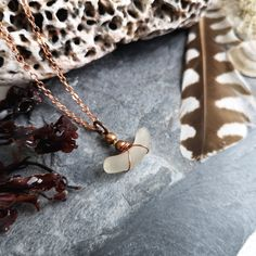 Copper Necklace with Seaglass Bohemian Style Clothing, Bohemian Jewelry, Boho Style, Sea Glass Jewelry, Jewelry Box, Jewelery, Irish Jewelry, Beach Accessories, Copper Necklace