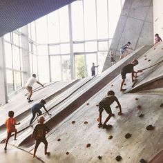 Great next generation attitude! These kids, reaching the top by working hard, use the slide to have some fun and then start all over again! #respect Thanks for the photo @tinem_cph #mvrdv #kube #architecture #nextgeneration #playground #building #copenhagen #denmark