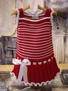 Designer Kids dresses red-white