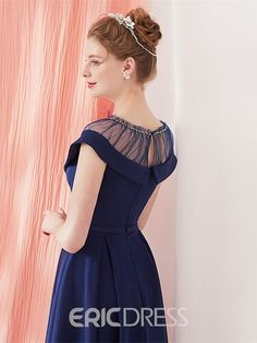 Shop Vintage Navy Blue Homecoming Party Dress Knee Length with Belt online. SheProm offers formal, party, casual & more style dresses to fit your special occasions. Frock Design, Ladies Dress Design, Dress Neck Designs, Blouse Designs, Girls Dresses, Prom Dresses, Vetement Fashion, Indian Designer Wear, Knee Length Dresses