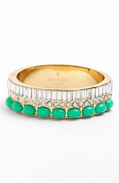 green & diamond bangle