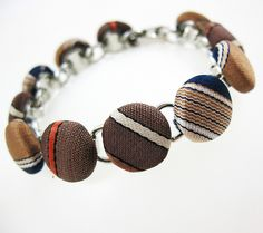 crafts from men's ties | upcycled men's tie bracelet | Flickr - Photo Sharing!
