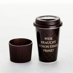 "Coffee-to-go-Becher ""Prinzlos glücklich"""