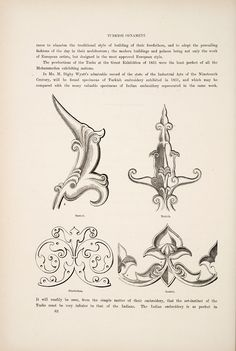 """Turkish ornament _  from the book, """"The grammar of ornament""""  (1910) by Owen Jones (1809-1874)."""