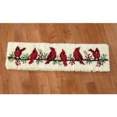 Birds on a Wire Rug Latch Hook Rug Kit