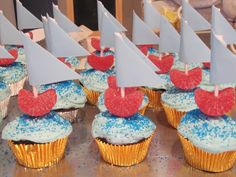 Nautical Sail Boat Cupcakes