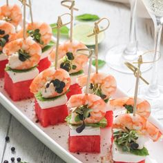 Impressive prawn tapas with watermelon and feta are irresistibly delicious and will impress any crowd. Perfect for entertaining, cocktail party or weddings!