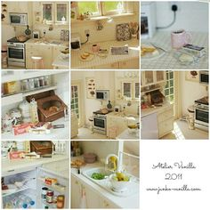 (Old production) Kitchen 1/12scale ---2012  #miniaturedollhouse #miniature #dollhouse #kitchen #interior #pink  #ミニチュアドールハウス #ミニチュア #ドールハウス #キッチン #インテリア #ピンク