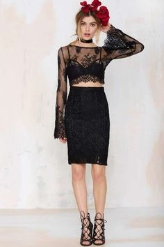 Endora Lace Crop Top - Cropped | Shirts + Blouses |  |  | Tops