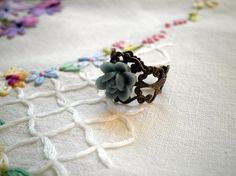Summer Charm Rainy Day  Antiqued Bronze Filigree by ihcharms