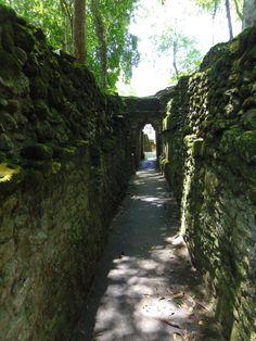 The corridors of Cahal Pech near San Ignacio, Belize
