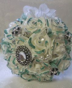 Roses & Brooches Bridal Bouquet