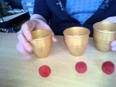 Zaubertrick: 3 Becher und 3 Bälle - YouTube Easy Magic Tricks, Youtube, Schmidt, Cups, Fun Kids Activities, Magic Tricks For Kids, Wizards, Tumblers, Crafts
