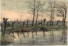 by Piet Mondrian Amsterdam Skyline Viewed from the West (c. 1899)