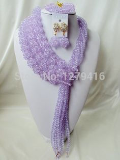 Find More Jewelry Sets Information about 2016 Fashion Lilac african purple crystal beads necklace set nigerian wedding african beads jewelry Set Free shipping  A1279,High Quality earring lot,China earrings base Suppliers, Cheap earring storage from Chinese jewelry import and export co., LTD on Aliexpress.com