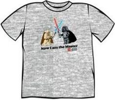 Lego Star Wars Now I Am The Master T-Shirt (L) Mens short sleeved T-Shirt. With front print. Officially licensed (Barcode EAN=1000070017003) http://www.MightGet.com/march-2017-1/lego-star-wars-now-i-am-the-master-t-shirt-l-.asp