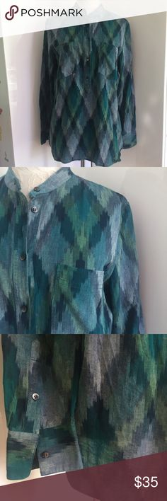 Madewell Wellspring Tunic Popover Top sz M 100% cotton okay pattern popover shirt by Madewell. Excellent condition. Size M (size tag was removed as it was irritating my daughter's skin). Madewell Tops