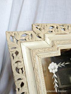 Espejo vintage de madera y cristal tallado 2 Genoves Atelier 2