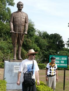 Corregidor- Statue of Manuel Quezon, first president of the Philippines