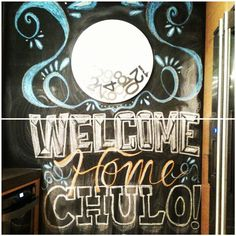 Someone special is coming #home to #nyc so I decided to put my #chalkboard #typography skills to the test! This was my first time experimenting with chalk type and it was a lot of fun! @joadesigns