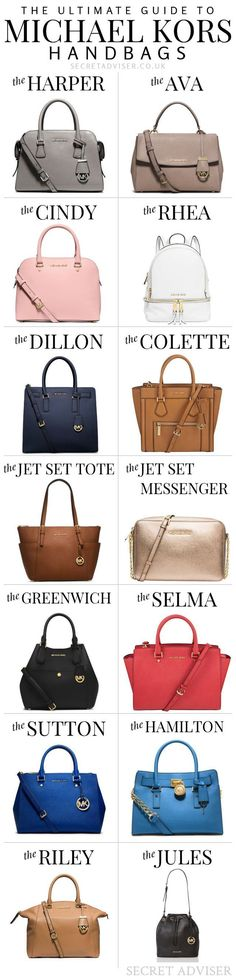 The Ultimate Guide to Michael Kors Handbags - Really useful for choosing your next one, or deciding which one to buy for someone else! Pinning it for later.
