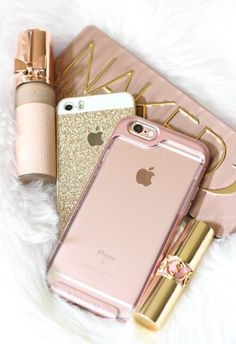 Iphone cases for girls, girly phone cases, pretty in pink, beauty, produt. Iphone Cases For Girls, Cute Phone Cases, Rose Gold Aesthetic, Tout Rose, Gold Everything, Accessoires Iphone, Just Girly Things, Coque Iphone, Iphone Phone