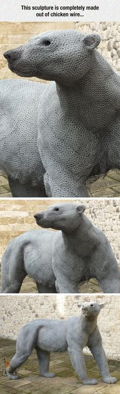 Funny pictures about Chicken Wire Skills. Oh, and cool pics about Chicken Wire Skills. Also, Chicken Wire Skills photos. Chicken Wire Art, Chicken Wire Sculpture, Animal Sculptures, Sculpture Art, Wire Sculptures, Outdoor Sculpture, Garden Sculpture, Art Abstrait, Funny Pictures