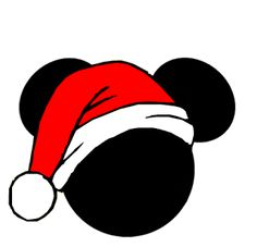 Mickey and Minnie Heads Dressed for Christmas. Mickey Mouse Christmas Tree, Christmas Rock, Diy Christmas Tree, Merry Christmas, Mickey Mouse Images, Mickey Mouse Head, Christmas Backrounds, Diy Vinyl Projects, Disney Frames