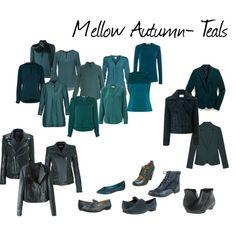 """Zyla- Mellow Autumn- Dark Teals"" by britt-galbraith on Polyvore"