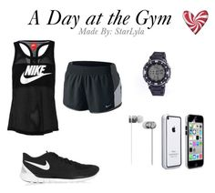 A Guy's A Day at the Gym. Miss Girl, Character Outfits, Beats By Dr, Polyvore Fashion, Gym Shorts Womens, Style Inspiration, Nike, Guys, Men
