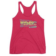 """""""Back To The Beach"""" Graphic Tank Top   Tri-Blend   Women's"""
