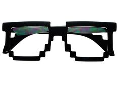 a72e0189a239e Clear Pixelated 8 Bit Glasses in Soft Matte Black P092 FREYRS - Sunglasses  at Affordable Prices