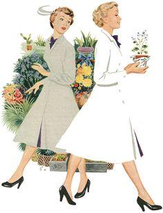 Illustration from Persil washing powder advertisement. 1953