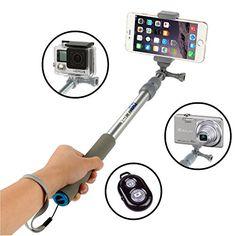 VertiGo Selfie Stick Portable Self-portrait Extendable Monopod with Bluetooth Remote Shutter for iPhone 7, 6s, 6, 5s, Android/Galaxy and All Other Smartphones - Platinum - http://moviesandcomics.com/index.php/2017/05/10/vertigo-selfie-stick-portable-self-portrait-extendable-monopod-with-bluetooth-remote-shutter-for-iphone-7-6s-6-5s-androidgalaxy-and-all-other-smartphones-platinum/