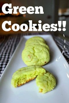 Soft and chewy pistachio cookies made with cake mix and pudding mix! Perfect for St. Patrick's day or anytime!