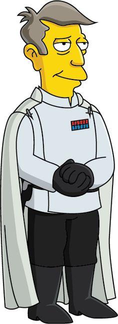 Simpsons Characters, Star Wars Characters, Fictional Characters, Seymour Skinner, Director Krennic, Futurama, The Simpsons, Conan, Bart Simpson