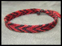 ► Friendship Bracelet Tutorial 2 - Beginner - The Chevron (Double Chevron Base)