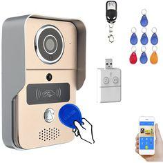 RFID WIFI Wireless Smart Remote Doorbell Video Door Phone IR Security Camera