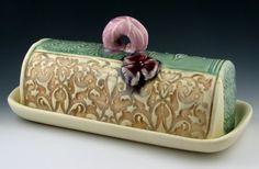 butter dish-Katy McDougal Pottery