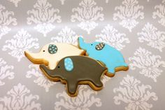 These elephant cookies were the perfect compliment for an elephant themed baby shower! Elephant Cookies, Custom Cookies, Baby Shower Themes, Elephants, Cake Pops, Babyshower, Compliments, Icing, Urban