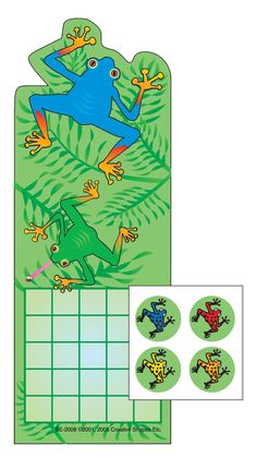 Tree Frog Incentive Sticker Set