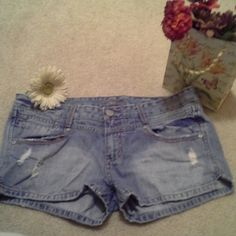 PIAMA, size 11 distressed jean shorts. Size 11, PIAMA distressed jean shorts in great condition. The jean shorts are 100% cotton so there is not stretch to them. Awesome comfortable shorts. PIAMA Shorts Jean Shorts