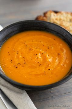 Roasted Butternut Squash, Carrot, & Ginger Soup by Perry's Plate, via Flickr